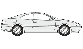 nissan skyline drawing outline how to draw a peugeot 406 coupe как нарисовать peugeot 406 coupe