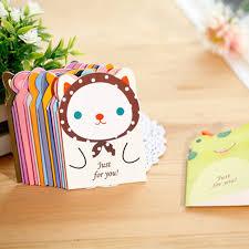 20pcs lot kawaii animal postcard folding birthday card