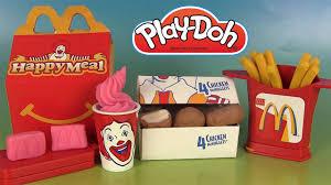 cuisine mcdo jouet play doh mcdonald s chicken mcnuggets meal playshop pâte à