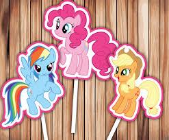 my pony cupcake toppers my pony cupcake toppers party decor printable digital