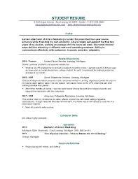 exle of resume for college student college student resume musiccityspiritsandcocktail