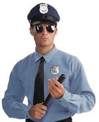 Police Halloween Costumes Police Officer Kit Halloween Costume Accessory Hat Glasses
