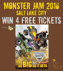 monster truck show 2016 monster jam 2016 salt lake city discount u0026 giveaway u2013 win 4