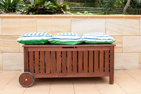Cushion Top Storage Bench by Outdoor Storage Ikea Regarding Bench With Cushion Ideas Patio