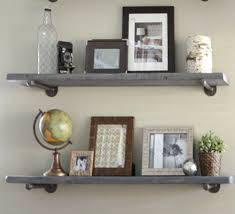 Deep Wall Shelves by 8 Depth Industrial Gray Wash Floating Shelve Graywash