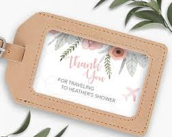 luggage tag favors custom luggage tag etsy