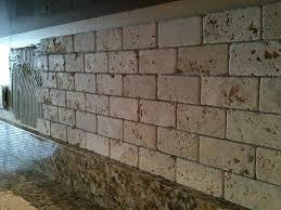 Ceramictec X Tumbled Chiaro Travertine Backsplash Installation - Travertine backsplash tile