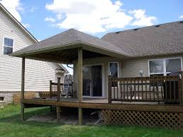 Design For Decks With Roofs Ideas Building A Deck An Existing Concrete Patio Free Home