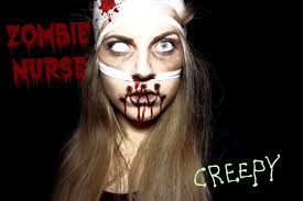 zombie nurse makeup look horroktober youtube