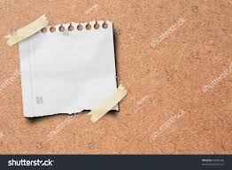 Stick Paper Note Paper Stick On Wooden Board Stock Illustration 92428246