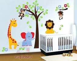 Wall Decals Baby Nursery Jungle Theme Baby Nursery Tree Wall Decals Rooms Nursery Wall