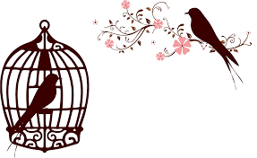 clipart floral birds silhouette no background