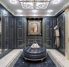 luxury walk in closet with vismara design frame mirror in baroque
