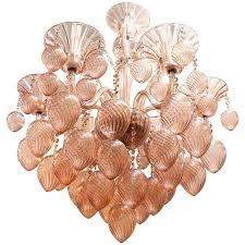 Murano Glass Chandelier Murano Glass Chandelier With Six Lights In Pink Nyshowplace