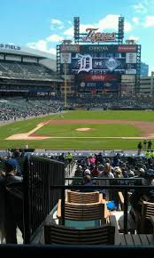 Comerica Park Map Comerica Park Section 122b Home Of Detroit Tigers