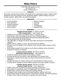 examples of customer service resumes best transportation customer service advisor resume example create my resume