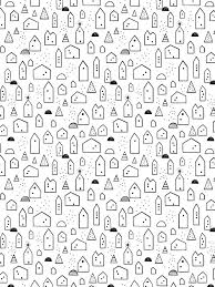 pixel wrapping paper free house wrapping paper scandinavian 插画