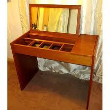 Flip Top Vanity Table Vintage Danish Modern Flip Top Vanity Chairish