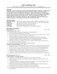 sample technical management resume technical manager exemple de