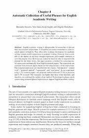 how to write an ieee paper automatic collection of useful phrases for english academic inside