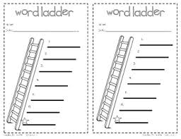 this is a simple 1 2 sheet word ladder recording page for use in