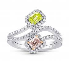 colored engagement rings colored diamond engagement rings pink yellow chagne