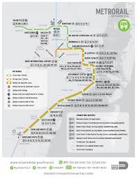 Miami Dade Map Submission U2013 Official Map Miami Dade Metrorail Transit Maps