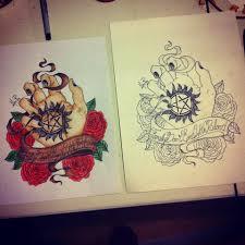 supernatural tattoo design by monteyroo on deviantart