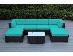 Conversation Patio Furniture Sets - amazon com ohana 7 piece outdoor wicker patio furniture sectional