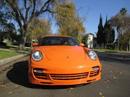 orange porsche 2007 pts orange porsche 911 997 turbo coupe in beverly hills 7