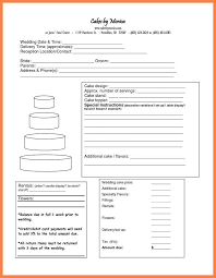 wedding cake quotation template 6 cake order forms templates receipts template