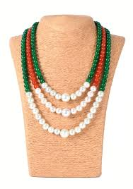 green fashion necklace images Buy online fashion beaded oxidize jewelry set handmadewale jpg