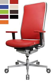 fauteuil de bureau haut de gamme siege ergonomique design avec cadre chromé wagner w1