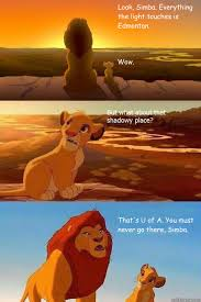 U Of A Memes - look simba everything the light touches is edmonton wow that s