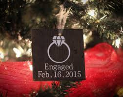 personalized engagement ornament engaged ornament