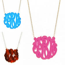 acrylic monogram necklace acrylic monogram necklace jerezwine jewelry