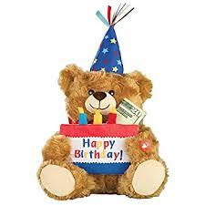 happy birthday singing teddy adorable happy birthday teddy with cake that plays