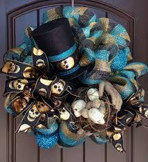 halloween door wreaths halloween wreath with mummy hands skull nest u0026 top hat trendy