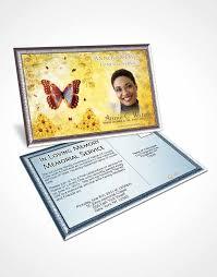 2 page grad fold funeral program template brochure deep love sunny