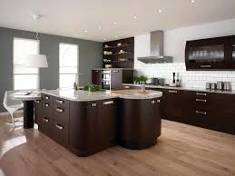 Kitchen With Brown Cabinets Modern Dark Brown Kitchen Cabinets Caruba Info