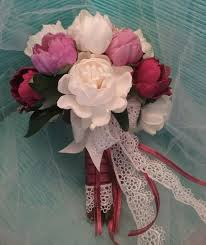 Peonies Bouquet Peonies Bouquet Lace Bouquet Wedding Bouquet Pink And White