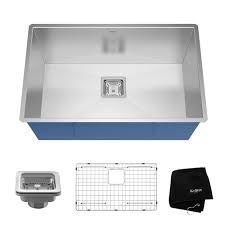 kraus 28 inch undermount sink stainless steel kitchen sinks kraususa com