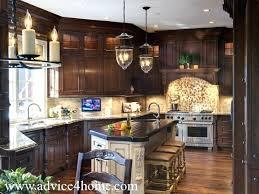 Candlelight Kitchen Cabinets Modern Cherry Wood Kitchen Cabinets Design Hanging Candle Light