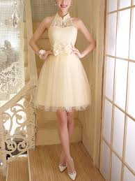 Dresses For Prom Cream Lace Halter Above Knee Fit U0026 Flare Dress For Prom