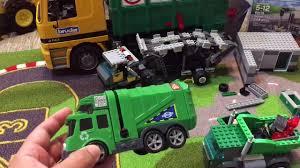 bruder garbage truck garbage trucks for kids bruder garbage truck lego 60118 fast