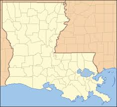 louisiana map with counties list of parishes in louisiana