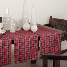 table runner or placemats plaid design table runner or set of 4 placemats free shipping on