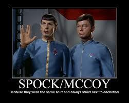 Spock Memes - spock mccoy motivational star trek poster by vulcanchocolate on