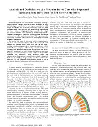analysis and optimization of a modular stator core with segmental