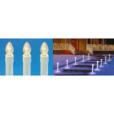 set of 10 pre lit c7 candle christmas pathway markers clear